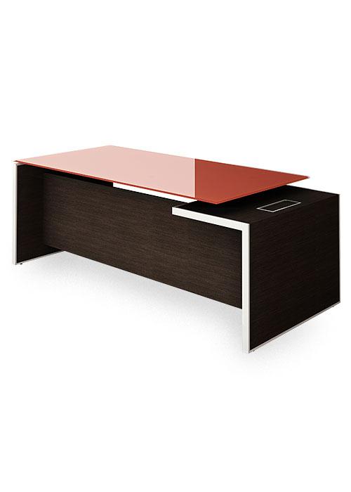 Escritorio gerencial vidrio oficina linea centauro formanova f brica de sillas y mesas - Cubre escritorio ...
